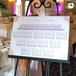 English Floral Vintage Style Table Plan