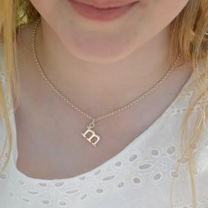 Childrens Initial Charm Necklace - christening jewellery