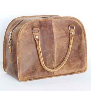 Leather Holdall Weekend Bag
