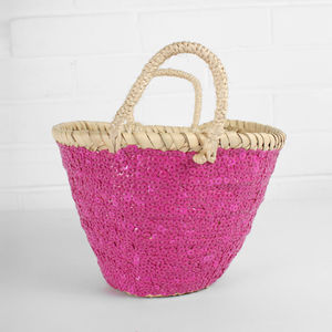 Mini Sequin Basket - shopper bags