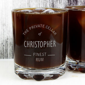 Personalised Rum Design Glass