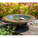 Rippled Step Birdbath