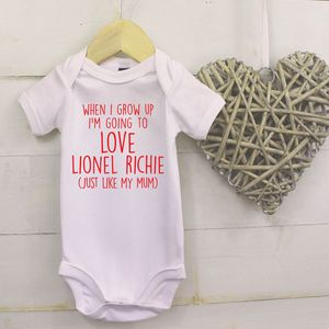 When I Grow Up I'm Going To Love… Like My Mum Baby Vest - babygrows