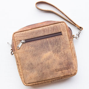 Leather Cross Body Or Clutch Bag