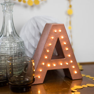 Handmade Battery Operated Letter Light - children's room