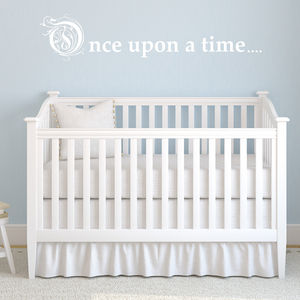 'Once Upon A Time' Wall Sticker - wall stickers