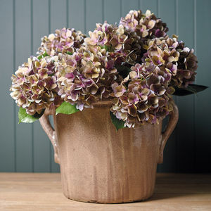 Faux Blush Hydrangea Stem - flowers & plants