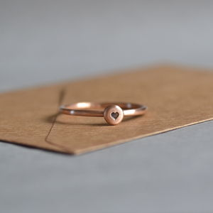 Rose Gold Heart Ring - gifts for her