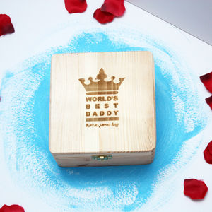 Personalised 'World's Best Daddy' Wooden Box