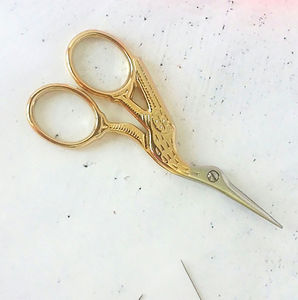 Stork Embroidery Scissors - stationery