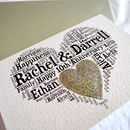 Personalised 10th Wedding Anniversary Love Sparkle Card