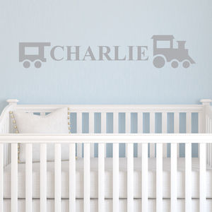 Train Personalised Wall Sticker - children's room
