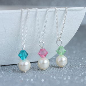 Swarovski Pearl And Crystal Birthstone Pendant - women's jewellery