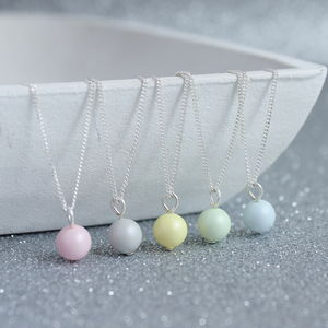 Pastel Swarovski Pearl Pendant - jewellery gifts for bridesmaids
