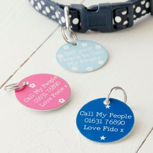 Get Your People To Call My People Personalised Pet Tag