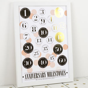 Gold Foil Wedding Anniversary Print - 50th anniversary: gold