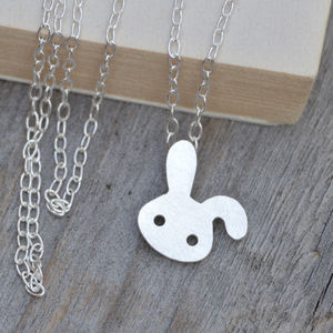 Bunny Rabbit Necklace In Sterling Silver - children's accessories