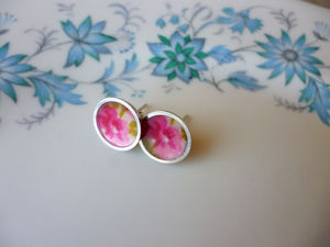 Floral Silver Stud Earrings
