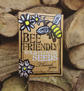 Five Pack Of Bee Friendly 'Thank You' Wild Flower Seeds - seeds & bulbs