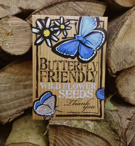 Five Pack Of Butterfly Friendly Thank You Flower Seeds - thank you cards