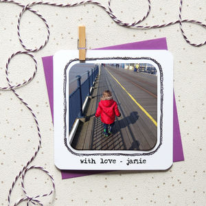 Personalised Photo Magnet Occasion Card - new baby cards