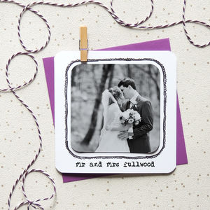 Personalised Photo Magnet Anniversary Card - wedding, engagement & anniversary cards