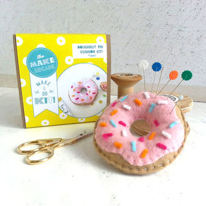 Doughnut Pin Cushion Craft Kit - sewing & knitting