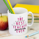 Personalised 'Best Teacher Ever' Secret Message Mug