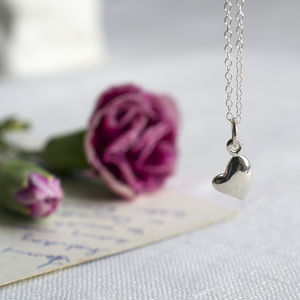 Warm Heart Necklace With Personalised Message - necklaces & pendants