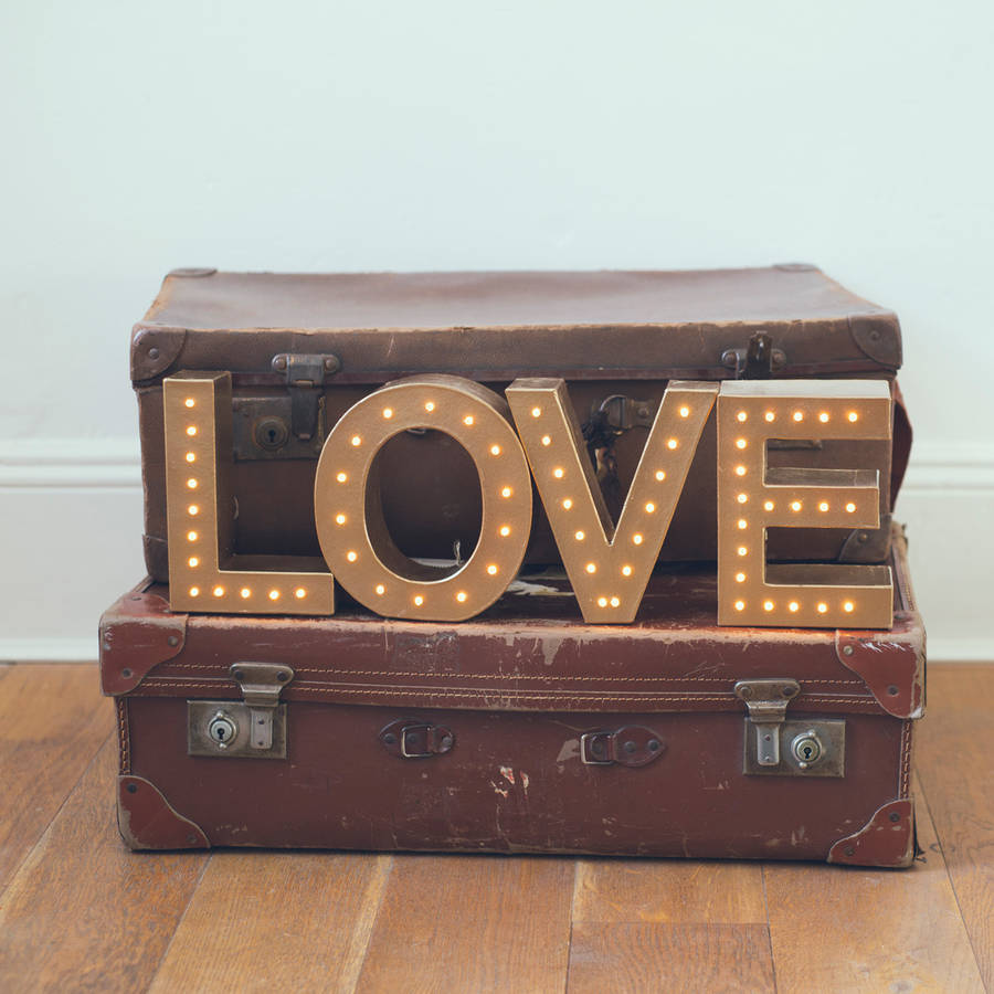 Handmade 'Love' Light Up Letter Light Sign