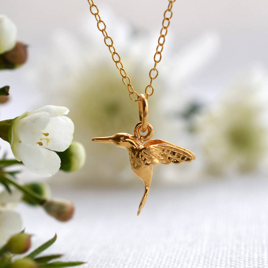 jewelry made gold hummingbird necklace in s filigree a u