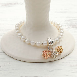 Pearl And Bird's Nest Bracelet
