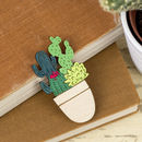 Pot Full Of Cacti Brooch