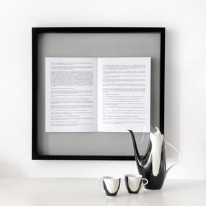 Poem Personalised Framed Book