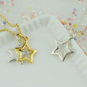 Star Necklace With Personalised Message Card