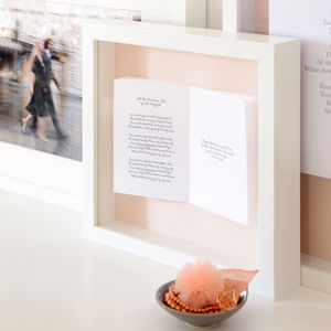 Wedding Vows Personalised Framed Book