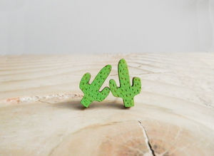 Cacti Earrings Saguaro - on trend: cactus