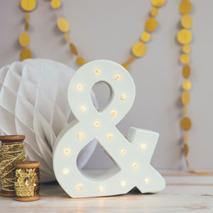 Handmade Ampersand Carnival Light