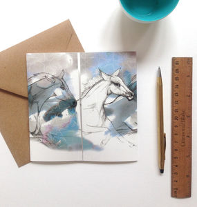 'Wild Horses' Square Greeting Card