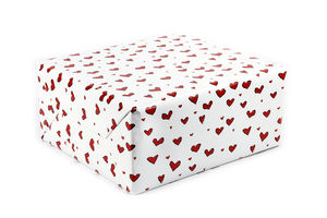 Hearts Wrapping Paper Love Romance Gift Wrap