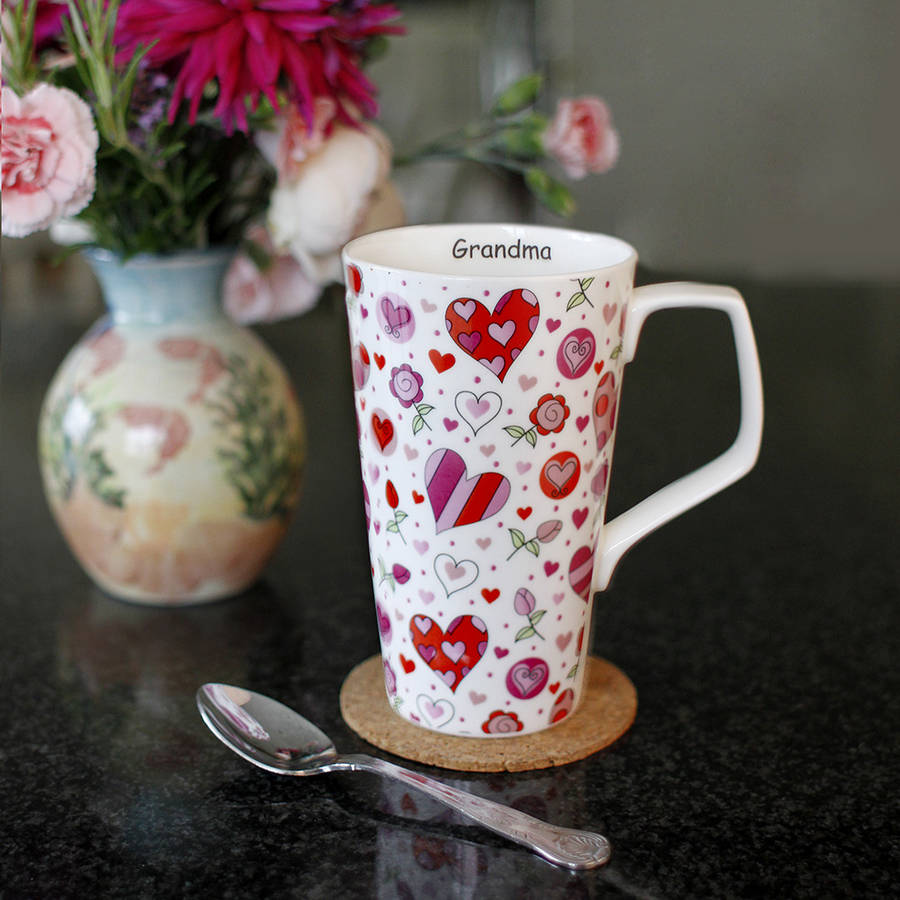 Personalised Bone China Latte Mug