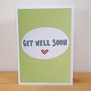 'Get Well Soon' A6 Greetings Card - get well soon cards