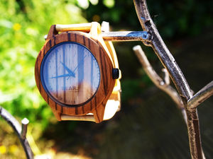Handcrafted Zebra Wood Watches Bear Essentials - mens