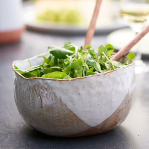 Hand Moulded Deep Salad Bowl - alfresco dining