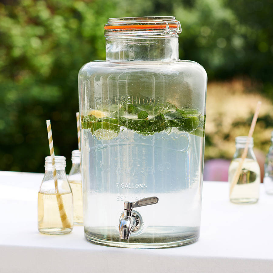 Glass Drinks Dispenser By Becky Broome