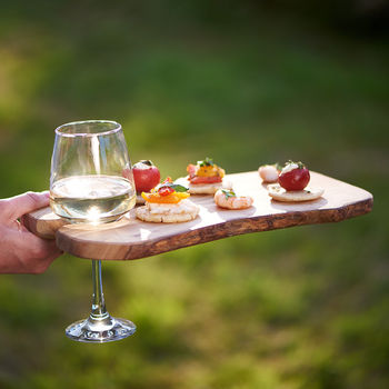 Olive Wood Live Edge Party / Canapé Board
