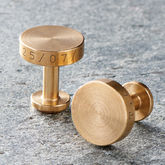 Solid Brass Cufflinks - weddings