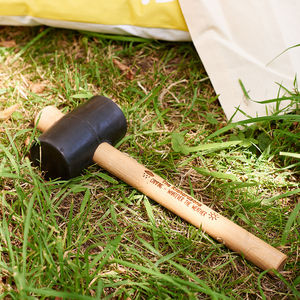 Personalised Camping Mallet - favourites