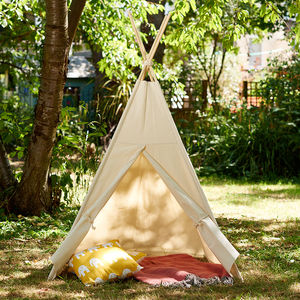 Handmade Cotton Canvas Teepee - toys & games