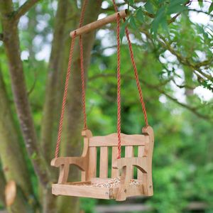 Wooden Swing Seat Birdfeeder - gifts for the garden